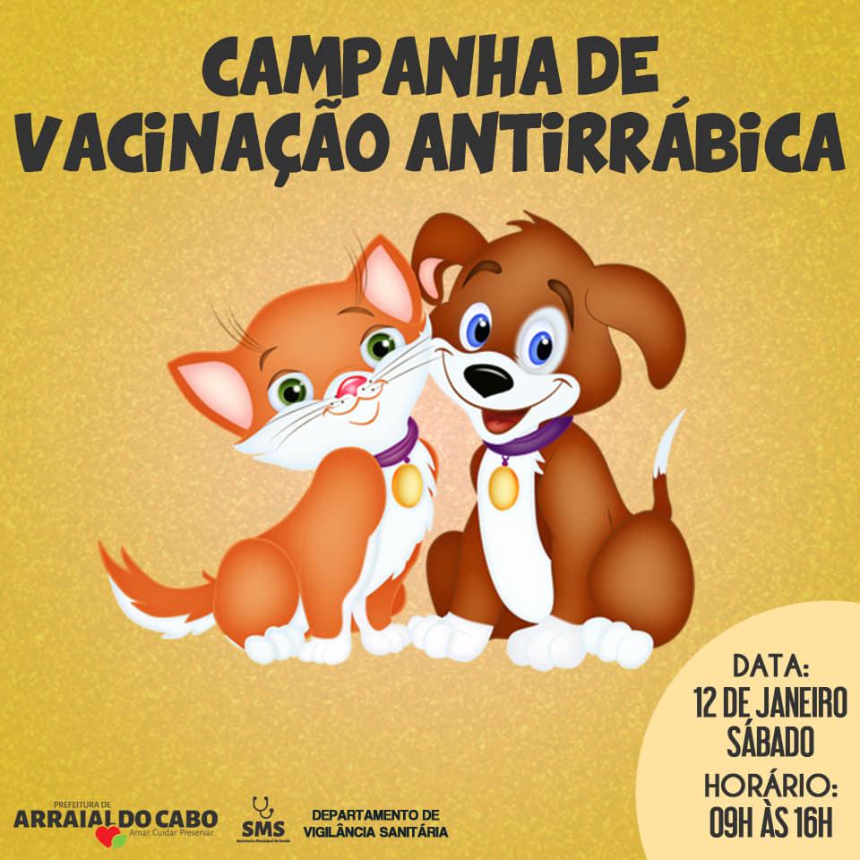 poster vacinação antirrábica arraial do cabo