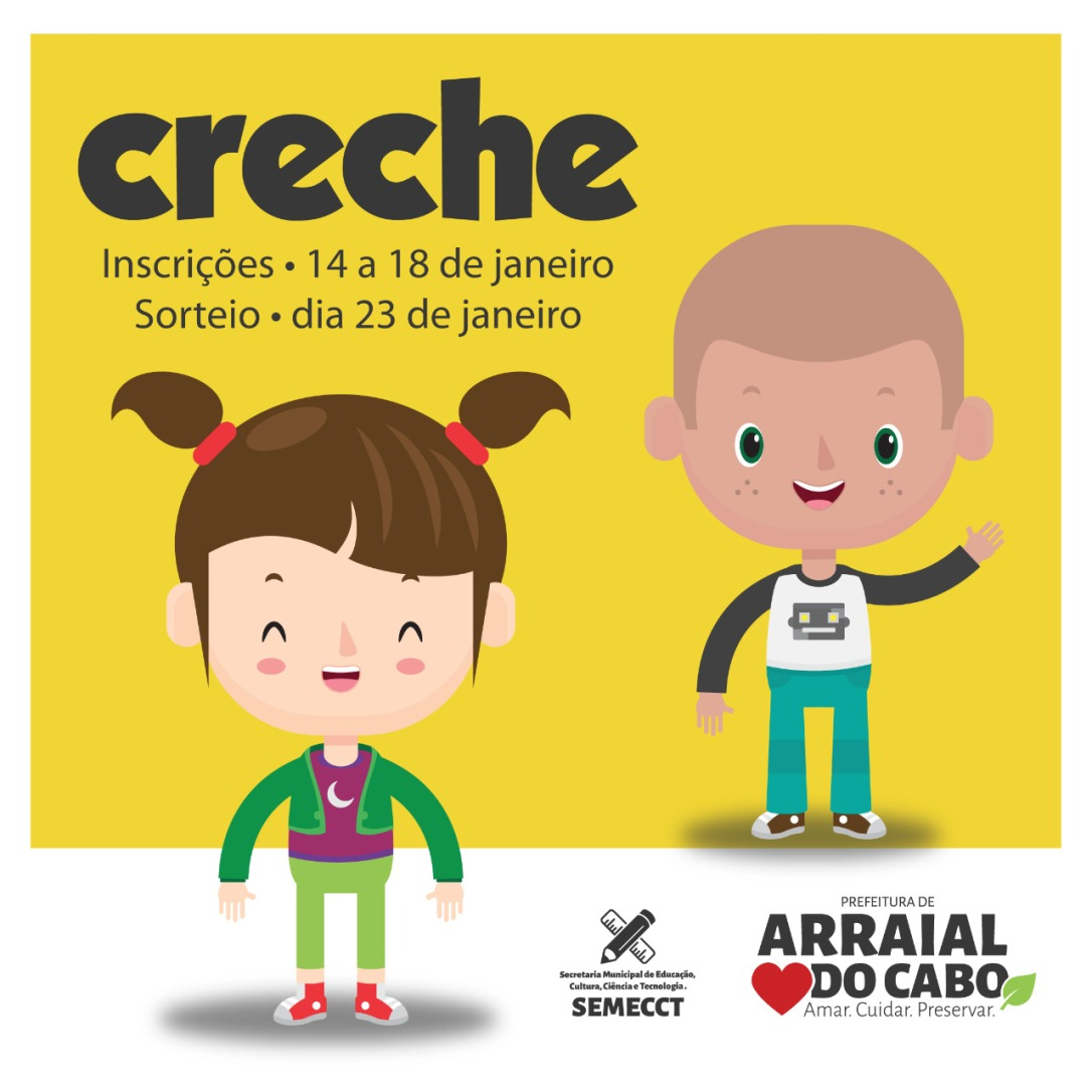 sorteio das creches - arraial do cabo