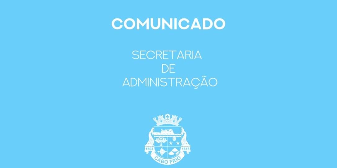 COMUNICADO-SECRETARIA-DE-ADMINISTRAÇÃO