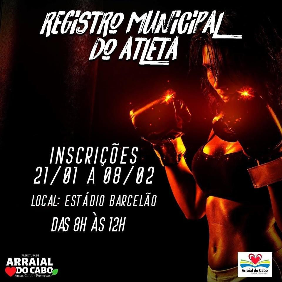 REGISTRO DE ATLETAS MUNICIPAIS